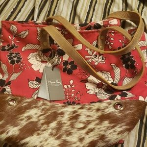 Myra bag made with real cow hide